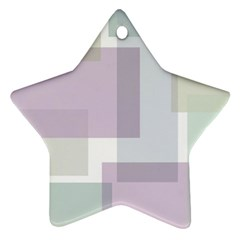 Abstract Background Pattern Design Star Ornament (Two Sides)