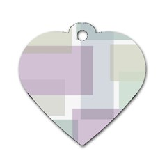 Abstract Background Pattern Design Dog Tag Heart (Two Sides)