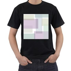 Abstract Background Pattern Design Men s T-Shirt (Black)