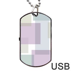 Abstract Background Pattern Design Dog Tag USB Flash (One Side)