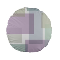 Abstract Background Pattern Design Standard 15  Premium Round Cushions