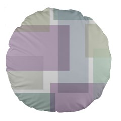 Abstract Background Pattern Design Large 18  Premium Round Cushions
