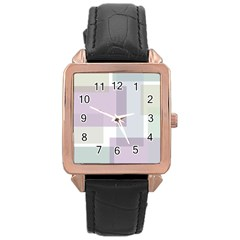 Abstract Background Pattern Design Rose Gold Leather Watch