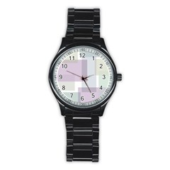 Abstract Background Pattern Design Stainless Steel Round Watch