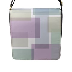 Abstract Background Pattern Design Flap Messenger Bag (L)