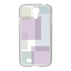 Abstract Background Pattern Design Samsung GALAXY S4 I9500/ I9505 Case (White)