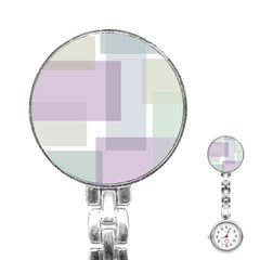 Abstract Background Pattern Design Stainless Steel Nurses Watch