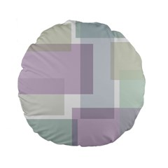 Abstract Background Pattern Design Standard 15  Premium Flano Round Cushions