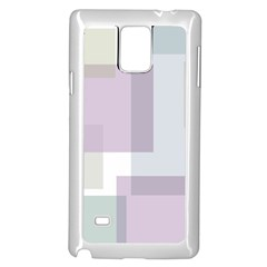Abstract Background Pattern Design Samsung Galaxy Note 4 Case (White)