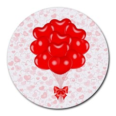 Abstract Background Balloon Round Mousepads