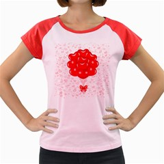 Abstract Background Balloon Women s Cap Sleeve T-Shirt