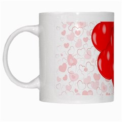Abstract Background Balloon White Mugs