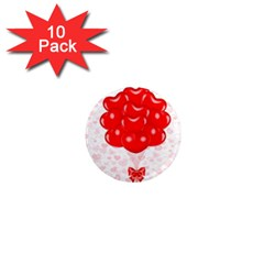 Abstract Background Balloon 1  Mini Magnet (10 pack)