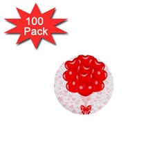 Abstract Background Balloon 1  Mini Buttons (100 pack)