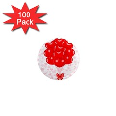 Abstract Background Balloon 1  Mini Magnets (100 pack)