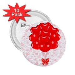 Abstract Background Balloon 2.25  Buttons (10 pack)