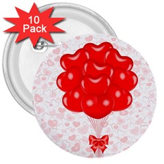 Abstract Background Balloon 3  Buttons (10 pack)