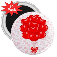 Abstract Background Balloon 3  Magnets (10 pack)