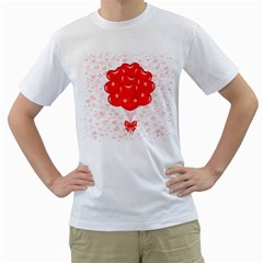 Abstract Background Balloon Men s T-Shirt (White) (Two Sided)