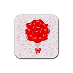 Abstract Background Balloon Rubber Square Coaster (4 pack)
