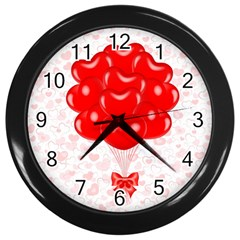 Abstract Background Balloon Wall Clocks (Black)