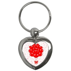 Abstract Background Balloon Key Chains (Heart)