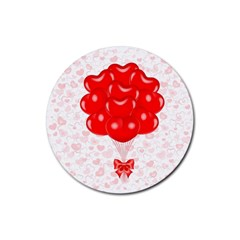 Abstract Background Balloon Rubber Coaster (Round)