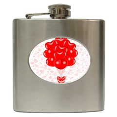 Abstract Background Balloon Hip Flask (6 oz)