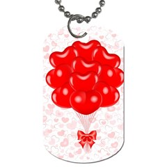 Abstract Background Balloon Dog Tag (Two Sides)