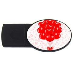 Abstract Background Balloon USB Flash Drive Oval (2 GB)