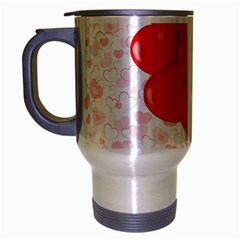 Abstract Background Balloon Travel Mug (Silver Gray)