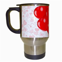 Abstract Background Balloon Travel Mugs (White)