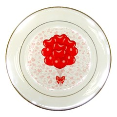Abstract Background Balloon Porcelain Plates