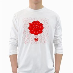 Abstract Background Balloon White Long Sleeve T-Shirts