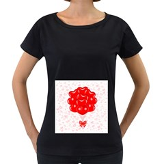 Abstract Background Balloon Women s Loose-Fit T-Shirt (Black)