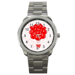 Abstract Background Balloon Sport Metal Watch