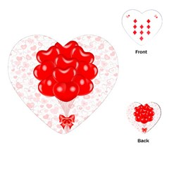 Abstract Background Balloon Playing Cards (Heart)