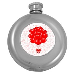 Abstract Background Balloon Round Hip Flask (5 oz)