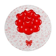 Abstract Background Balloon Round Ornament (Two Sides)