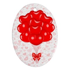 Abstract Background Balloon Oval Ornament (Two Sides)
