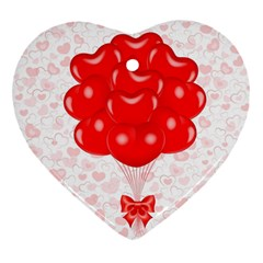 Abstract Background Balloon Heart Ornament (2 Sides)