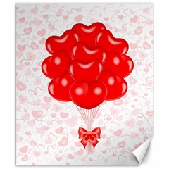 Abstract Background Balloon Canvas 8  x 10