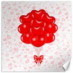 Abstract Background Balloon Canvas 12  x 12
