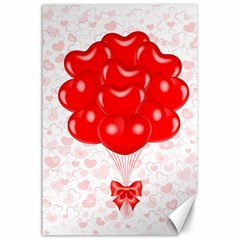 Abstract Background Balloon Canvas 24  x 36