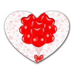 Abstract Background Balloon Heart Mousepads