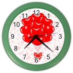 Abstract Background Balloon Color Wall Clocks