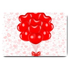 Abstract Background Balloon Large Doormat
