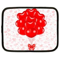 Abstract Background Balloon Netbook Case (Large)