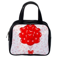 Abstract Background Balloon Classic Handbags (One Side)
