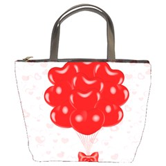 Abstract Background Balloon Bucket Bags